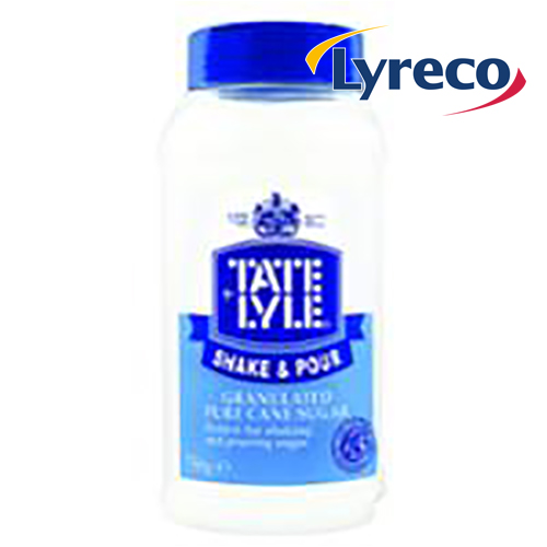 Tate & Lyle Granulated White Cane Shake and Pour Sugar 750g Tub