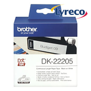 Brother DK22205 White Paper Tape Label 62mmx30m