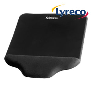 Fellowes Black Plush Touch Mouse Pad Wrist Support