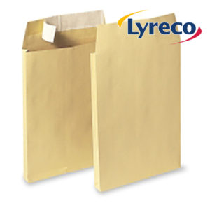 Lyreco Manilla C4 Peel and Seal Gussett Envelopes 120GSM (100)