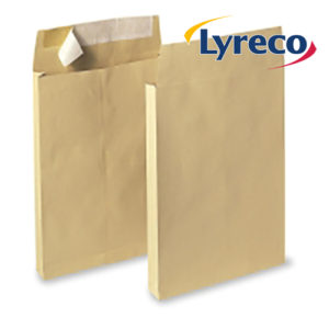 Lyreco Manilla B4 Peel and Seal Gussett Envelopes 120GSM (100)